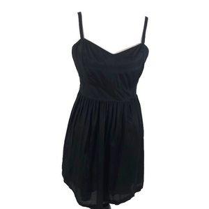 Kensie XL Silk Blend Babydoll Style Dress Black